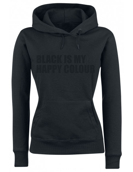 Black Is My Happy Colour Sweat à Capuche Femme noir