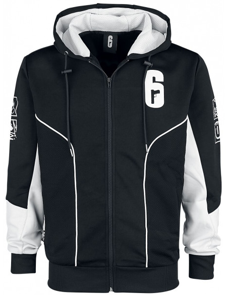 Rainbow Six Siege - Tech Sweat Zippé à Capuche noir/blanc