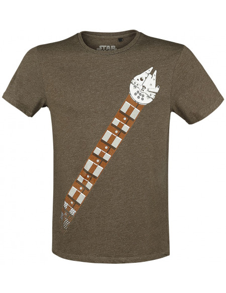 Star Wars Ceinture Faucon T-shirt marron chiné