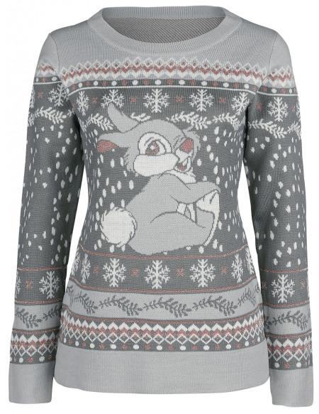 Bambi Panpan Sweat-shirt Femme gris
