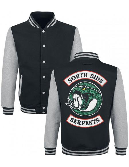 Riverdale Serpent Snake Veste de Football Américain noir