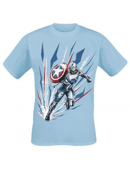 Avengers The Game - Captain America T-shirt bleu clair