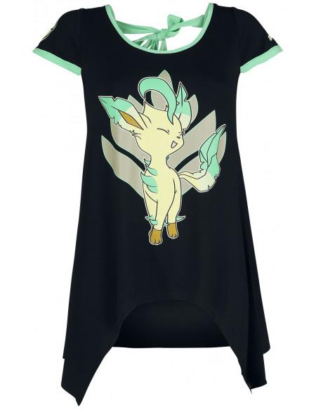 Pokémon Phyllali T-shirt Femme noir