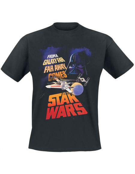 Star Wars Star Wars Épisode 9 - From A Galaxy Far Far Away T-shirt noir