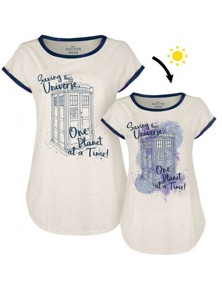 Doctor Who One Planet At A Time T-shirt Femme crème marbrée