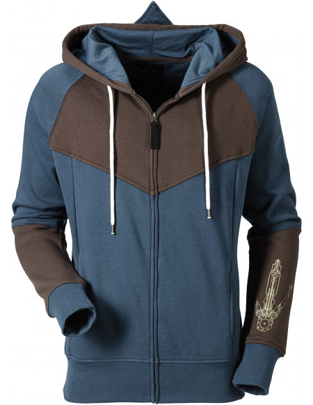 Assassin's Creed Unity Sweat Zippé à Capuche bleu/marron