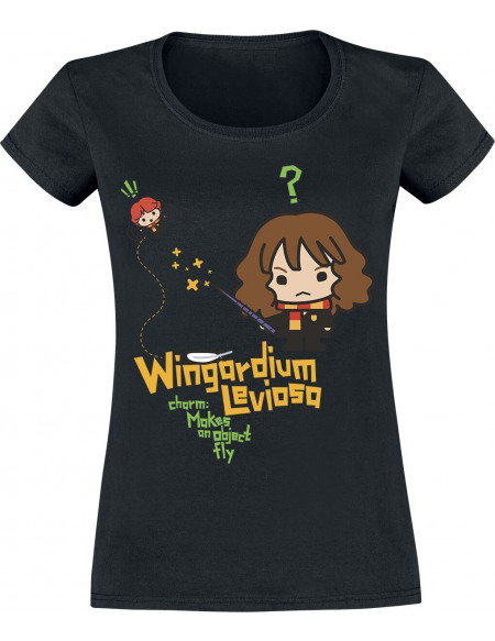Harry Potter Wingardium Levoisa T-shirt Femme noir