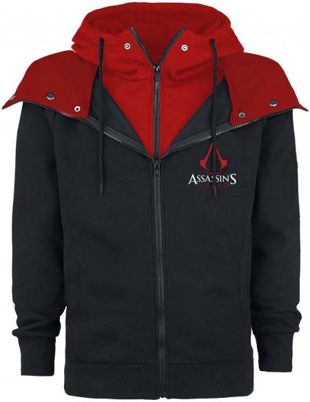 Assassin's Creed Emblème Sweat Zippé à Capuche noir/rouge