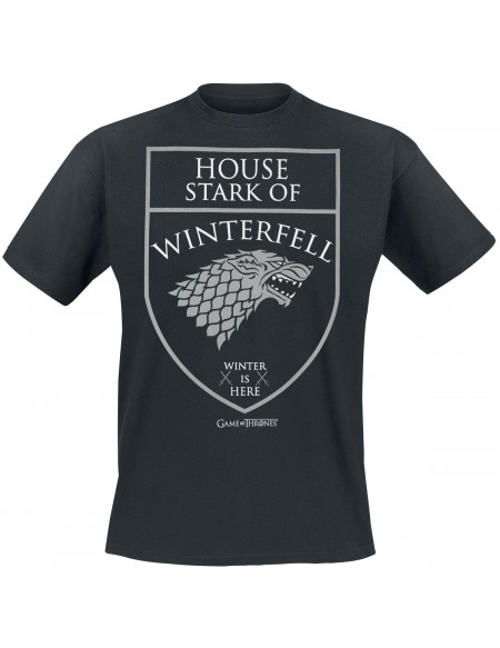 Game Of Thrones House Stark - Winterfell - Winter Is Here T-shirt noir