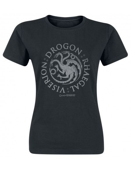 Game Of Thrones Maison Targaryen - Drogon, Rhaegal, Viserion T-shirt Femme noir