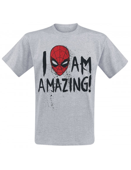 Spider-Man I Am Amazing T-shirt gris chiné