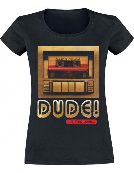 Les Gardiens De La Galaxie Dude Tape T-shirt Femme noir
