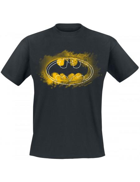 Batman Graffiti Logo T-shirt noir