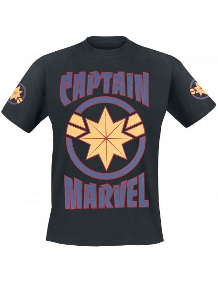 Captain Marvel Logo - Étoile T-shirt noir