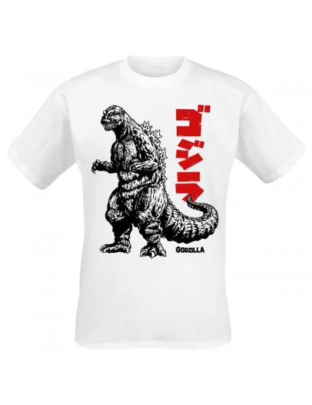 Godzilla Monster T-shirt blanc