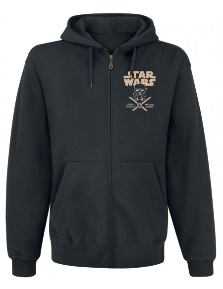 Star Wars Rogue One - Garde Impérial Death Trooper Sweat Zippé à Capuche noir