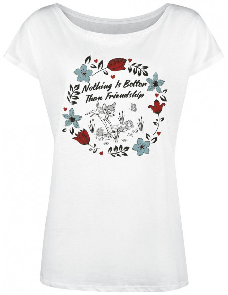 Bambi Nothing Is Better Than Friendship T-shirt Femme blanc
