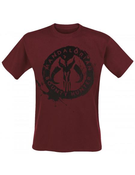 Star Wars The Mandalorian - Bounty Hunter T-shirt bordeaux