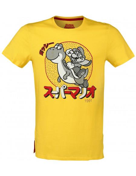 Super Mario Mario & Yoshi - Japanese T-shirt jaune