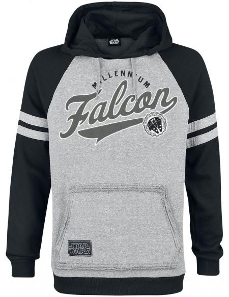 Star Wars Millennium Falcon Sweat à capuche gris/noir
