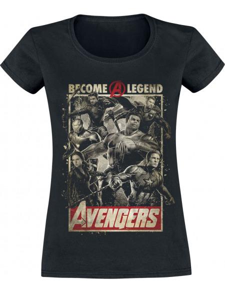 Avengers Endgame - Become A Legend T-shirt Femme noir