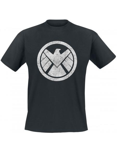 Avengers Bouclier T-shirt noir