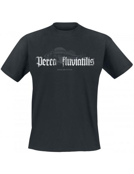 Anglerlatein Perca Fluviatilis T-shirt noir