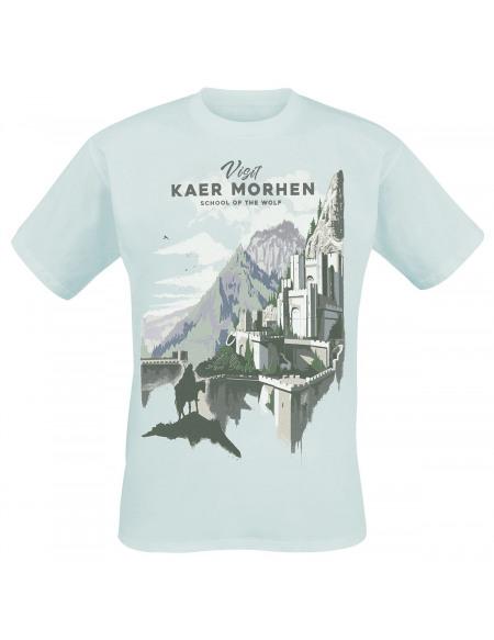 The Witcher Visit Kaer Morhen T-shirt bleu clair