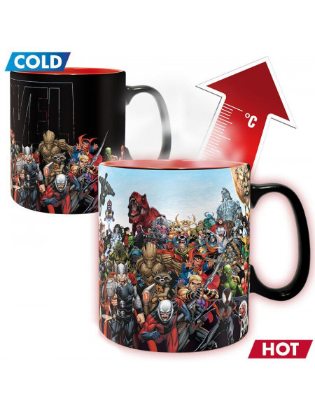 Mug Heat Change ABYstyle Héros Marvel 460 ml