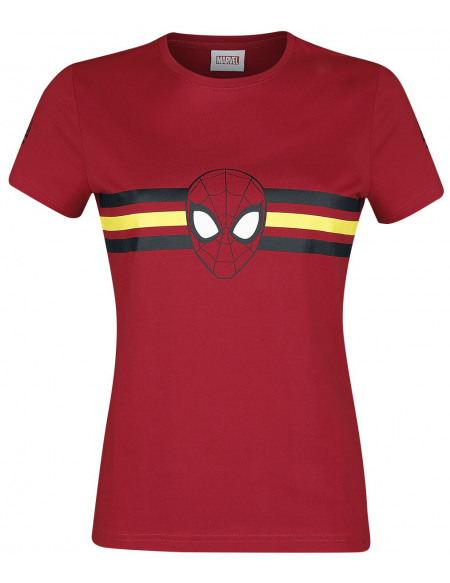 Spider-Man Logo - Rayures T-shirt Femme rouge