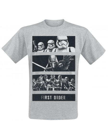 Star Wars Épisode 9 - L'Ascension De Skywalker - Bandes The First Order T-shirt gris chiné