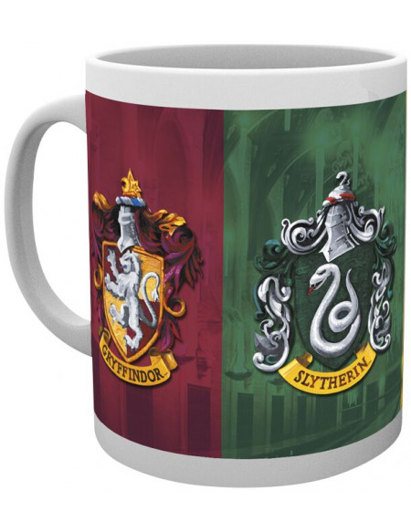 Harry Potter Tous Les Emblèmes Mug blanc
