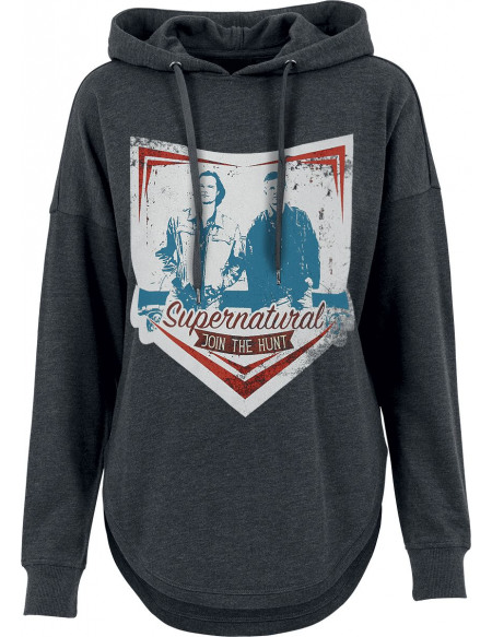 Supernatural Join The Hunt Sweat à Capuche Femme anthracite