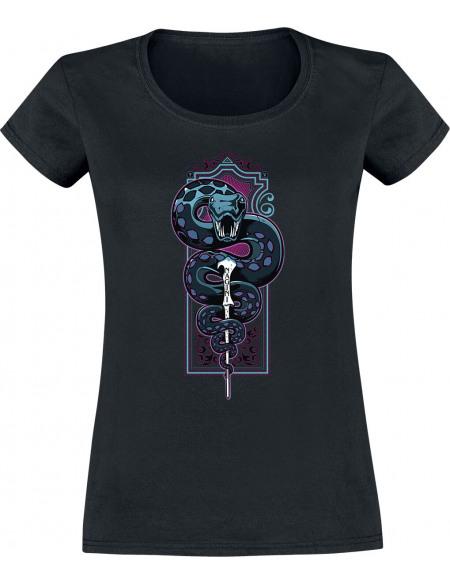Harry Potter Serpent Basilic T-shirt Femme noir
