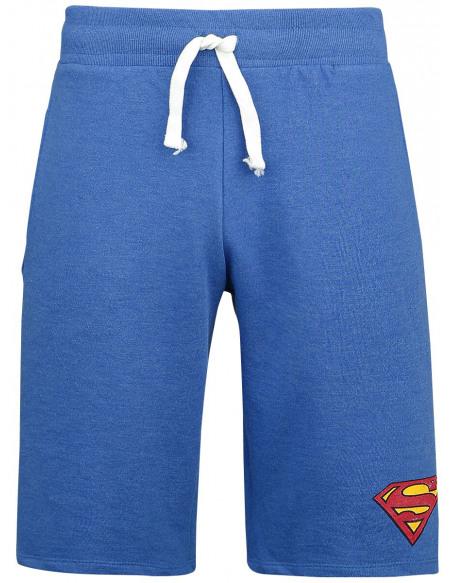 Superman Logo Vintage Short bleu chiné