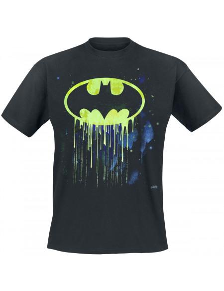 Batman Gouttes De Peinture T-shirt noir