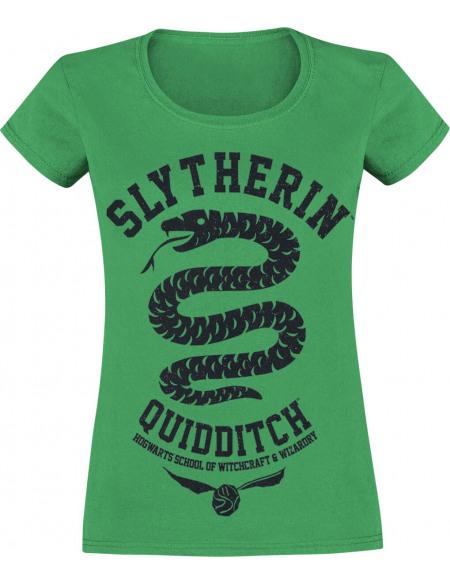 Harry Potter Serpentard - Quidditch T-shirt Femme vert