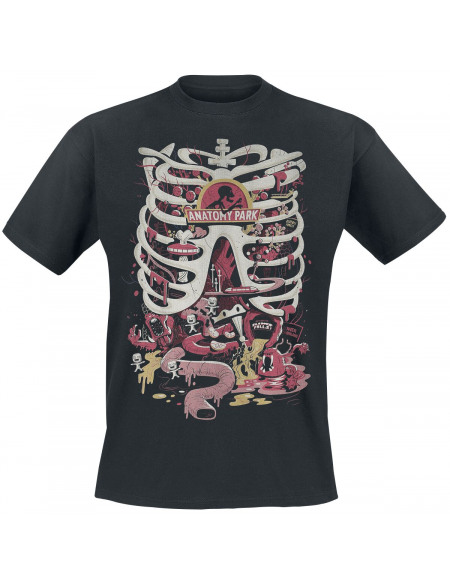 Rick & Morty Anatomy Park T-shirt noir