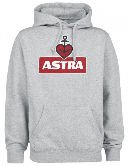 Astra Heart Anchor Sweat à capuche gris chiné