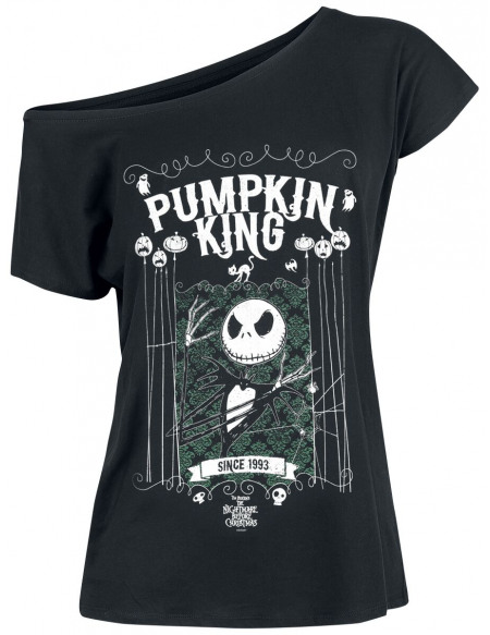 L'Étrange Noël De Monsieur Jack Jack Skellington - Pumpkin King T-shirt Femme noir