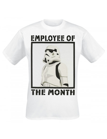 Star Wars Employee Of The Month T-shirt blanc