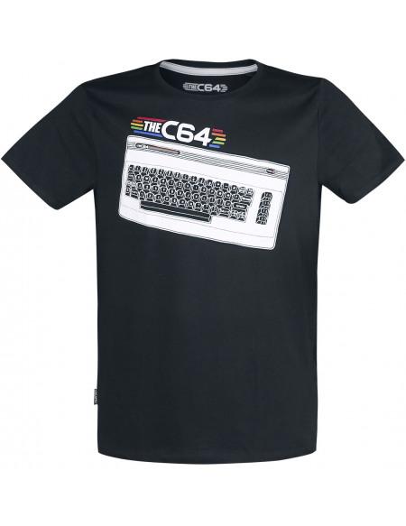 Commodore 64 C64 - Clavier T-shirt noir