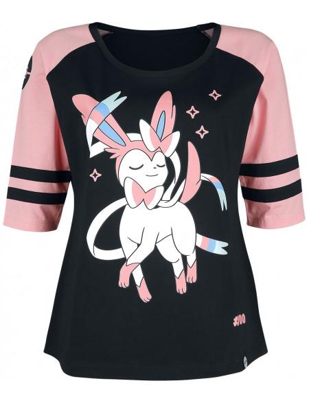 Pokémon Nymphali Haut à manches longues noir/rose