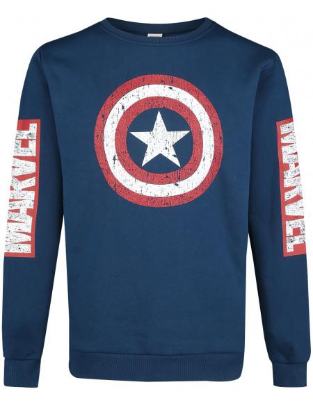 Captain America Logo Pull bleu