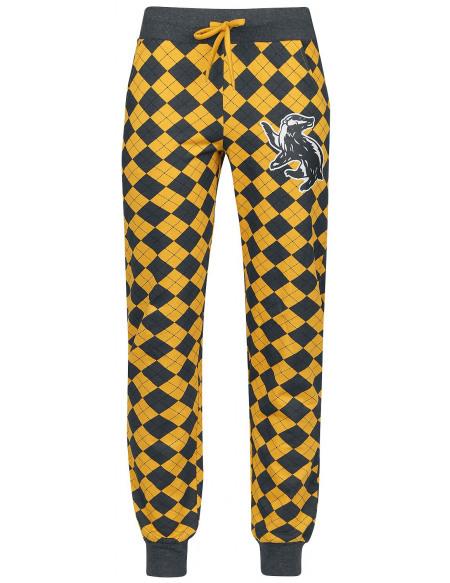 Harry Potter Poufsouffle Bas de pyjama jaune/gris