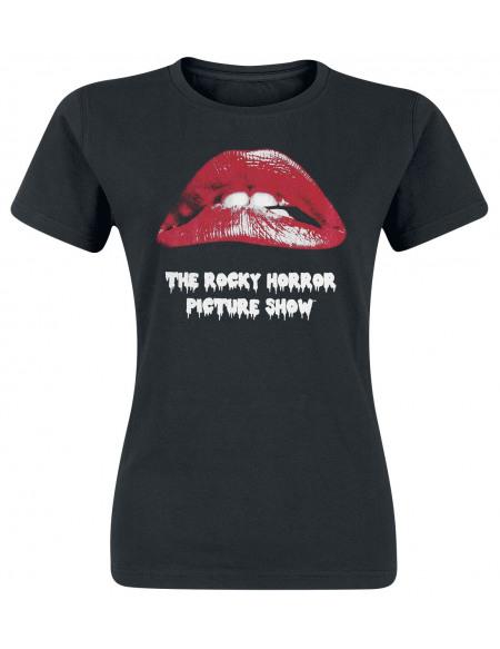 The Rocky Horror Picture Show Lèvres T-shirt Femme noir