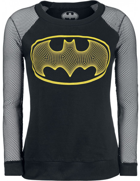 Batman 3-D Haut à manches longues noir