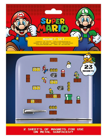 Super Mario Mushroom Kingdom (Set) Magnette frigo multicolore