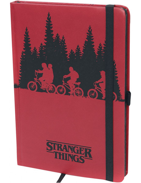 Stranger Things Upside Down Cahier rouge