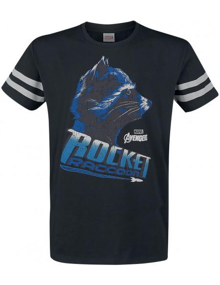 Avengers Rocket Raccoon T-shirt noir